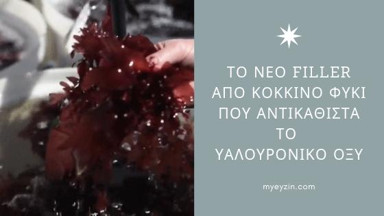 Το Νέο Filler από Κόκκινο Φύκι που Αντικαθιστά το Υαλουρονικό Οξύ